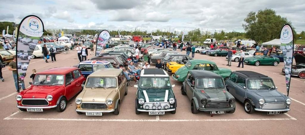 GCCG members Minis at the British Motor Museum Gaydon